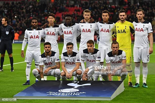 The Tottenham team Tottenham Hotspur's English defender Danny Rose Tottenham Hotspur's South Korean striker Son HeungMin Tottenham Hotspur's Kenyan...