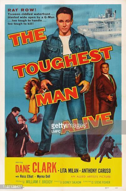 The Toughest Man Alive poster US poster center from left Lita Milan Dane Clark Anthony Caruso 1955