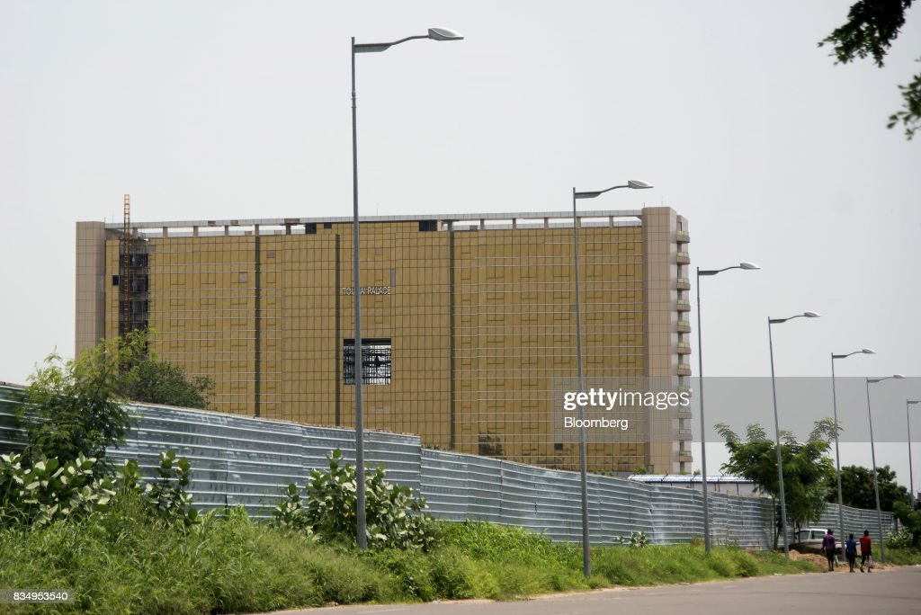 The Toumai Palace hotel stands during construction in N'Djamena, Chad, on Wednesday, Aug. 16, 2017. African Development Bank and nations signed agreement to finance a project linking the town of Ngouandere in Cameroon and Chads capital, NDjamena, according to statement handed to reporters in Cameroonian capital, Yaounde in July. Photographer: Xaume Olleros/Bloomberg via Getty Images