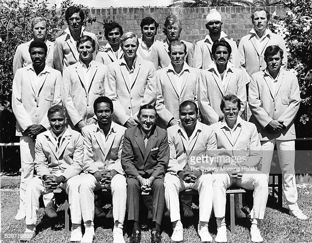 The touring World XI cricket team prior to the Sydney Test match of the Rest of the World XI tour of Australia 8 January 1972 The match ended in a...