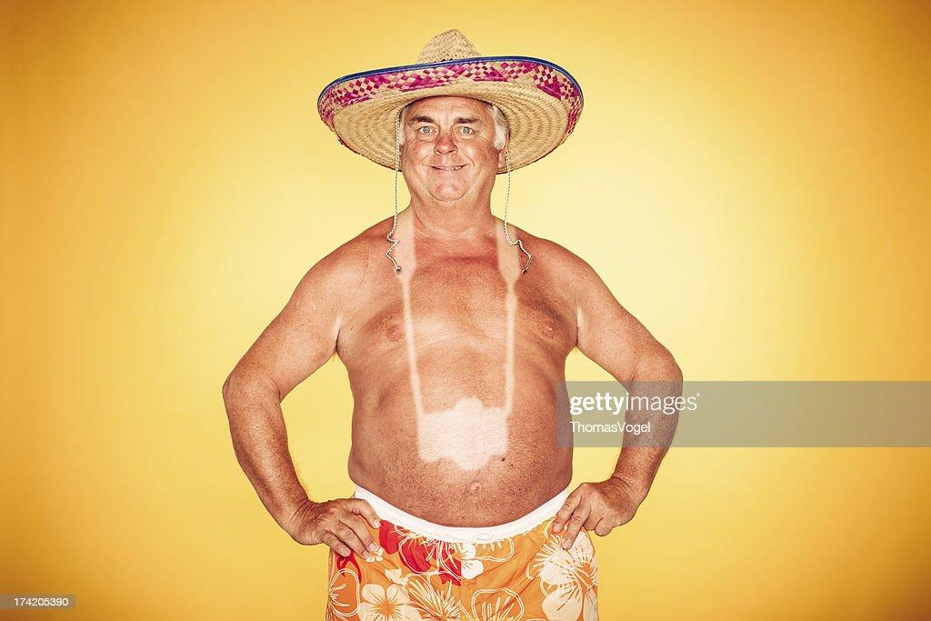 The Tourist - Cool Camera Sombrero Humor Hawaiian : Stock Photo