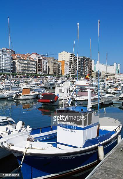 The tourist port in Santander Cantabria Spain