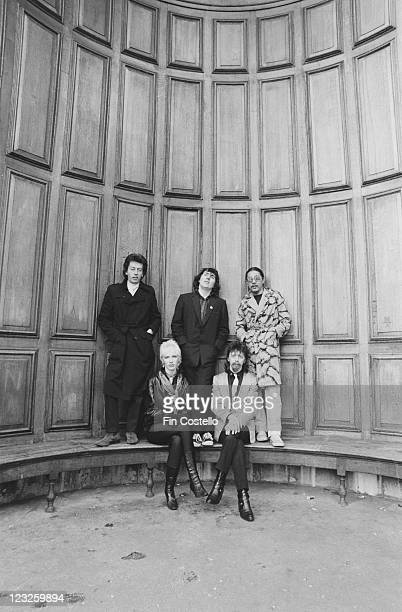The Tourists drummer Jim Toomey singer and guitarist Peet Coombes bassist Eddie Chin singer and keyboard player Annie Lennox and guitarist Dave...