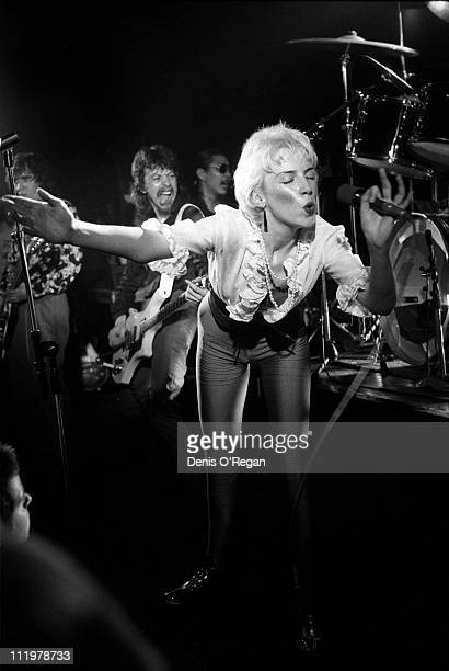 The Tourists' singer Annie Lennox live at London's Marquee Club 1978 In the background is Dave Stewart Annie's future partner in The Eurythmics