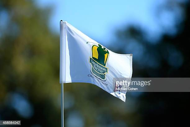The tournament flag waves during round two of the Sanderson Farms Championships at The Country Club of Jackson on November 7 2014 in Jackson...
