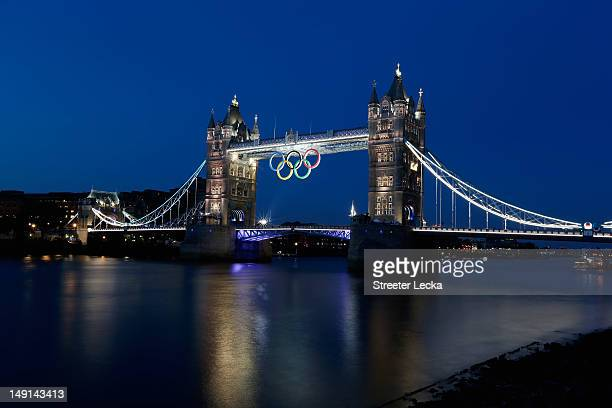 The Tower Bridge ahead of the London 2012 Olympic Games on July 23, 2012 in London, England.
