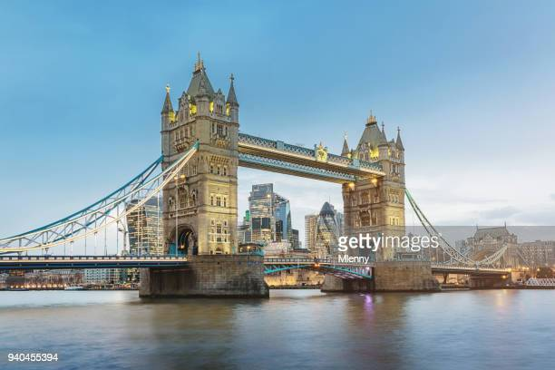 The Tower Bridge in London River Thames at Twilight UK