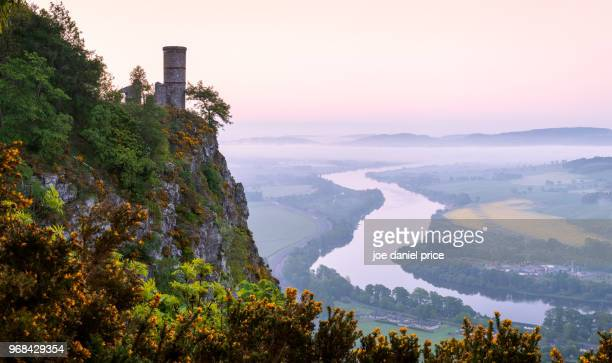 the tower, kinnoull hill, perth, scotland - perth scotland stock pictures, royalty-free photos & images