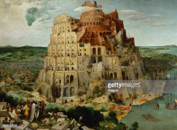 The Tower of Babel Oil on oakwood Size 114 x 155 cm Cat 48 Inv 1026 [Turmbau zu Babel Oel/Holz Size 114 x 155 cm Cat 48 Inv 1026]