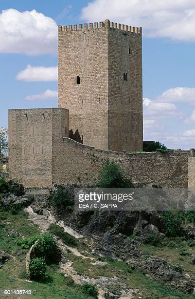 The tower of Castillo de la Yedra view from above Cazorla Andalusia Spain 13th century