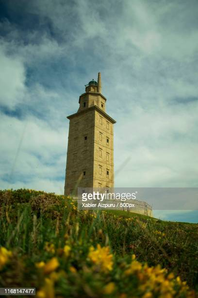 the tower of hercules - hercules stock pictures, royalty-free photos & images