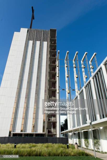 The Tower of Hope, left, and Arboretum, right, at Christ Cathedral in Garden Grove was designed by famed architect Richard Neutra. The Tower of Hope...