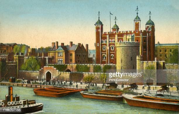 The Tower of London, circa 1910. London's famous prison, castle and armoury, dating from the 11th century. Postcard. Artist Unknown.