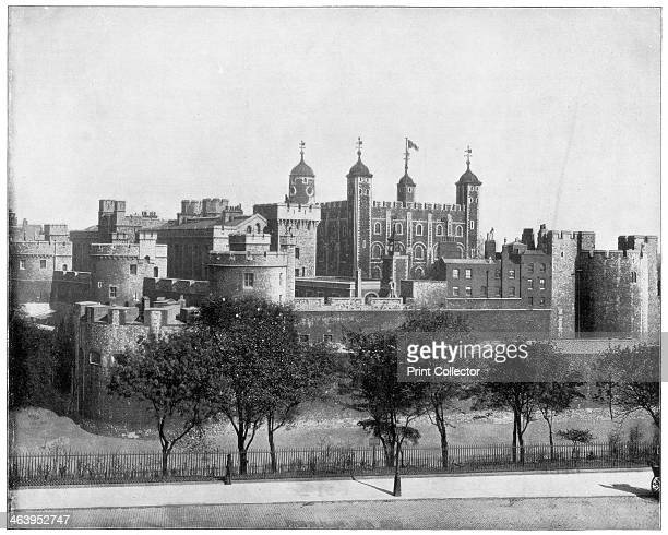 The Tower of London England late 19th century Photograph from Portfolio of Photographs of Famous Scenes Cities and Paintings by John L Stoddard...