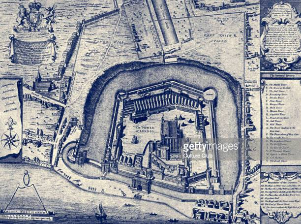 The Tower of London from plan made in 1597 Entitled 'Vestuta Monumenta'