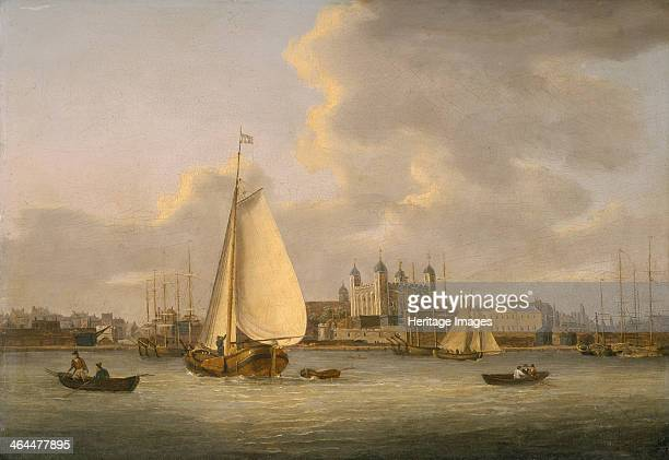 'The Tower of London from the River' c1770c1818 The White Tower is shown on the Thames waterfront stretching past the Custom House to Queenhithe...