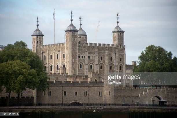 The Tower of London medieval castle and prison in a sunny afternoon in London on May 9 2017
