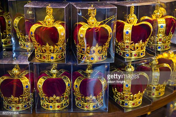 The Tower of London, souvenir crowns for sale
