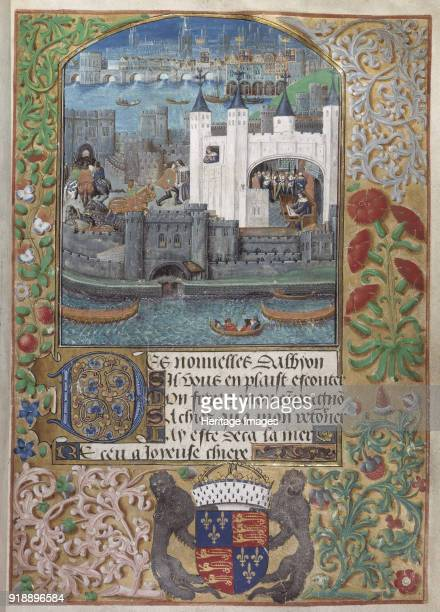 The Tower of London the Custom House and Charles dOrléans imprisonment in the Tower From PseudoHeloise by Charles d'Orleans ca 1483 Found in the...
