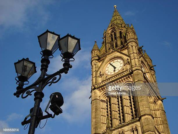 CONTENT] The tower of the Grade 1 listed Victorian Manchester Town Hall Albert Square Manchester