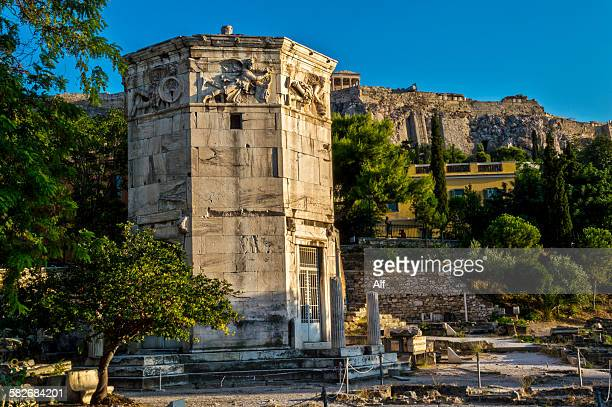 The Tower of the Winds in Athens, Greece