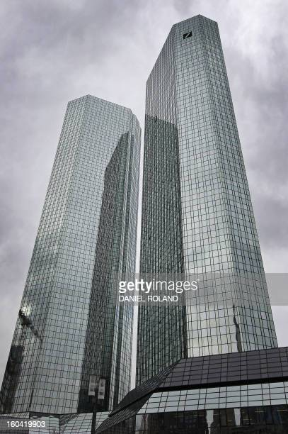 The towers of German company Deutsche Bank are seen in Frankfurt am Main central Germany on January 31 2013 Deutsche Bank said that oneoff effects...