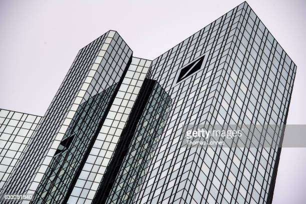 The towers of the headquarters of Deutsche Bank stand on February 1 2017 in Frankfurt Germany Deutsche Bank is to announce financial results for 2016...