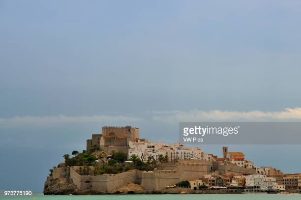 The town and the castle of Papa Luna Peniscola Spain