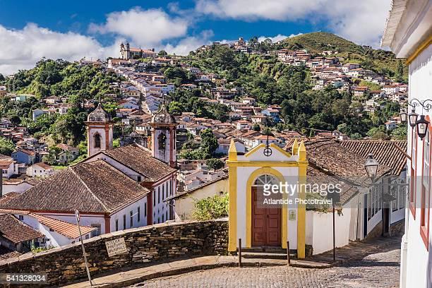 The town and the Igreja (church) Sa Francisco de Assis from Rua (street) Claudio Manoel
