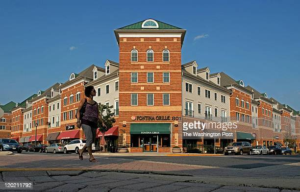 The town center at the King Farm development in Montgomery county on July 2011 in Rockville MD