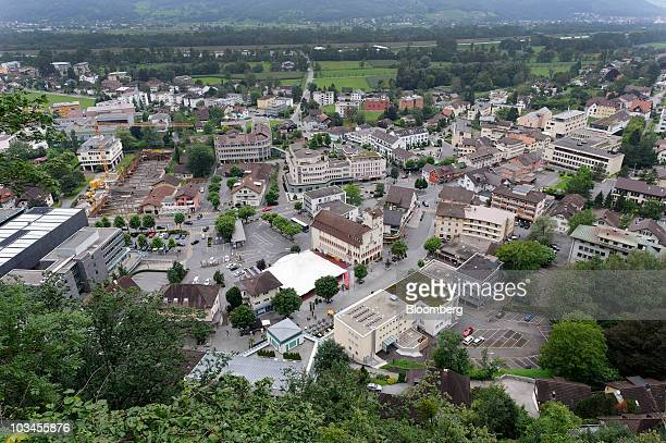 The town center of Vaduz Liechtenstein is seen on Wednesday Aug 18 2010 The UK expects voluntary disclosures of British citizens with accounts in...