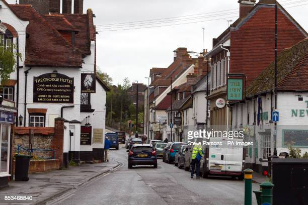 The town centre of Amesbury in Wiltshire