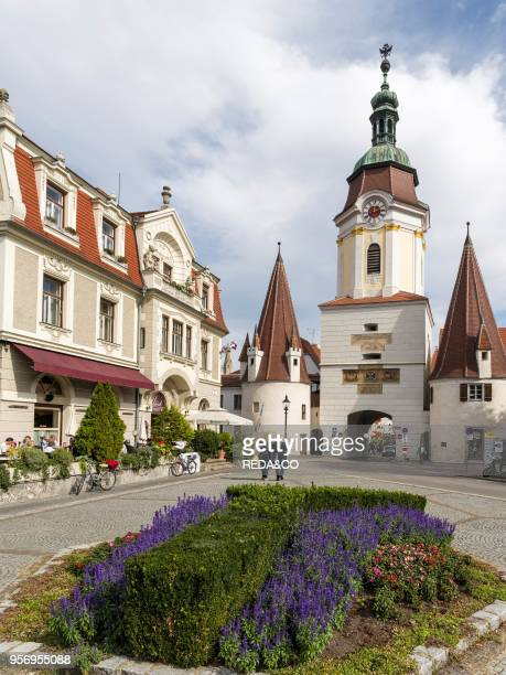 The town gate Steiner Tor in the old town of Krems an der Donau in Lower Austria the gateway to the Wachau The Wachau is a famous vineyard and listed...