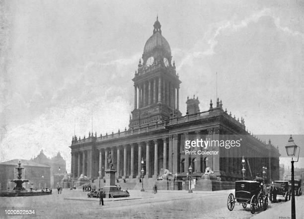 The Town Hall Leeds' circa 1896 From Pictorial England and Wales [Cassell and Company Limited London Paris Melbourne circa 1896] Artist Hudson