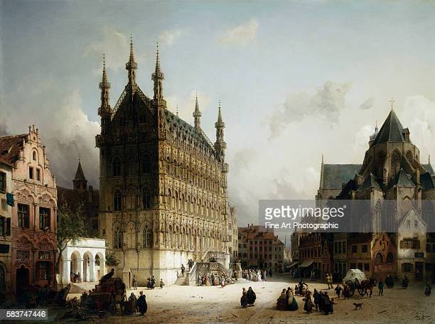 The Town Hall Louvain Belgium by Michael Neher