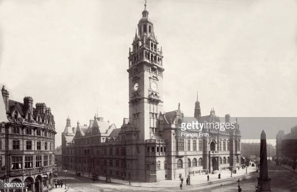 The Town Hall of Sheffield, Yorkshire, designed by Edward Mountfield.