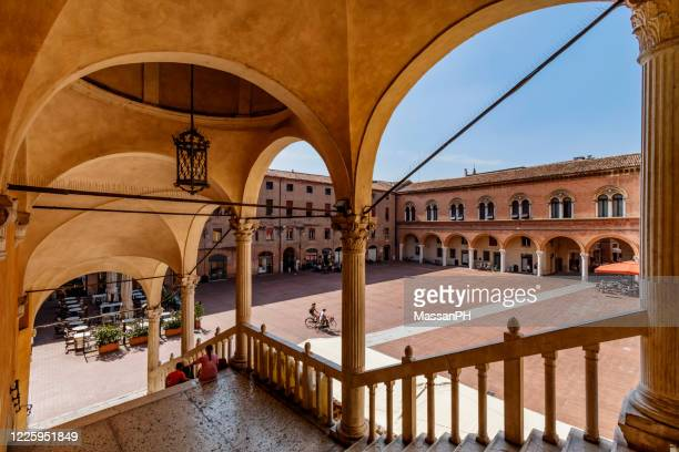 the town hall square staircase of honour - ferrara foto e immagini stock