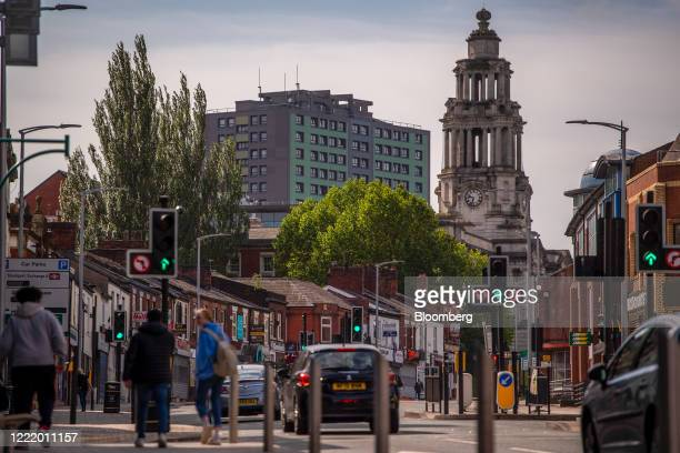 The Town Hall stands in Stockport, U.K., on Monday, June 22, 2020. The Brexit-supporting regions that propelled Prime Minister Boris Johnson into...