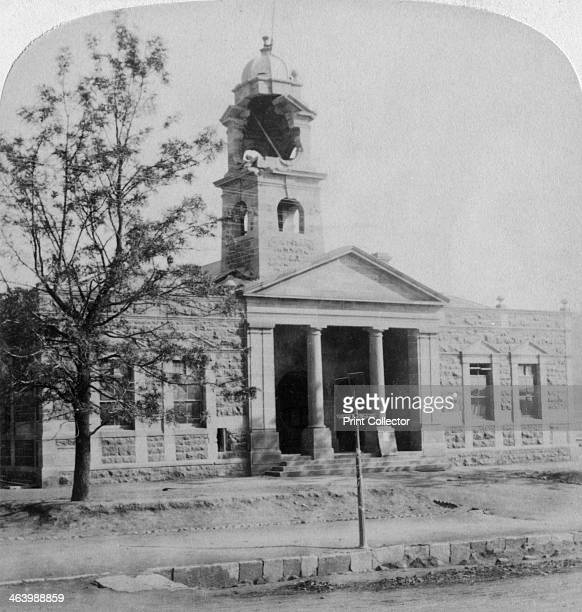 The Town Hall struck by a Boer shell during the siege Ladysmith South Africa 1901 The siege of Ladysmith by the Boers lasted from 1 November 1899...