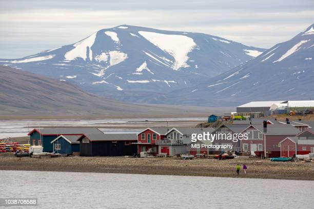 the town longyearbyen - spitsbergen stock pictures, royalty-free photos & images