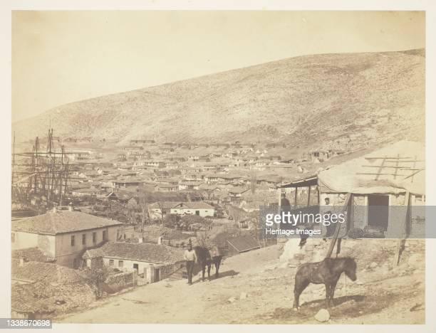 The Town of Balaklava, 1855. A work made of salted paper print, from the album 'photographic pictures of the seat of war in the crimea' . Artist...