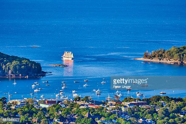 the town of bar harbor,maine,usa - bar harbor stock photos and pictures
