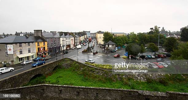 The town of Cahir County Tipperary from the battlement of Cahir Castle