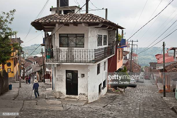 the town of cuetzalan, mexico - puebla mexico stock pictures, royalty-free photos & images