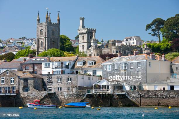 The town of Fowey from the river