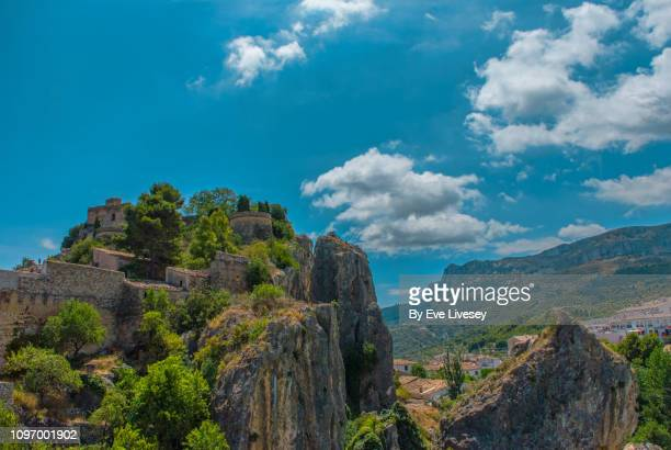 the town of guadalest - alicante stock pictures, royalty-free photos & images
