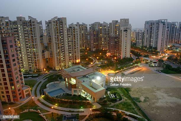 the town of gurgaon - ハリヤナ州 ストックフォトと画像