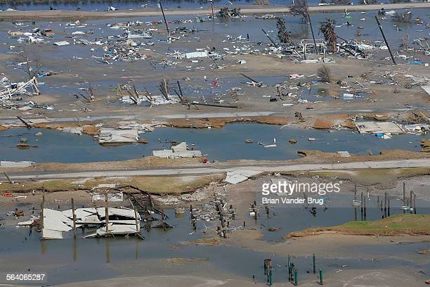 The town of Holly Beach on the Louisiana Gulf Coast was completely destroyed and washed away by Hurricane Rita No homes or businesses remained Los...