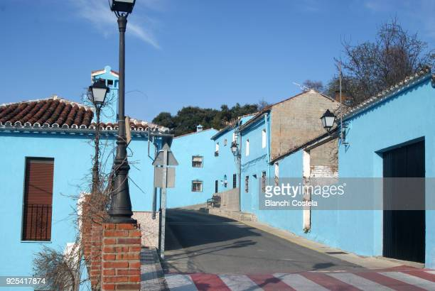 The town of Juzcar in Malaga called the village of the smurfs  for being painted all blue