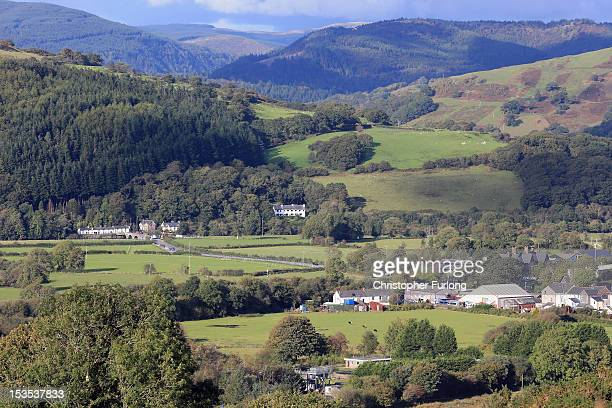 The town of Machynlleth nestles in the Welsh hills as the hunt for missing April Jones continues on October 6 2012 in Machynlleth Wales Police have...